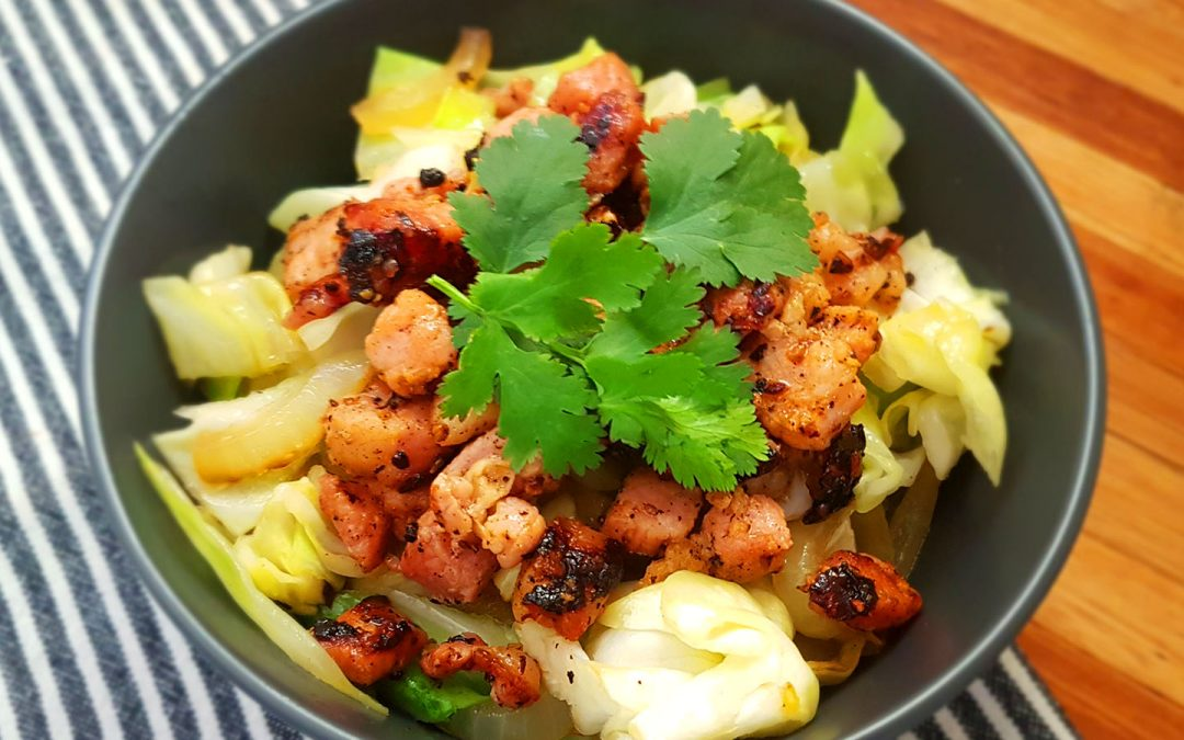 Bacon and cabbage bowl